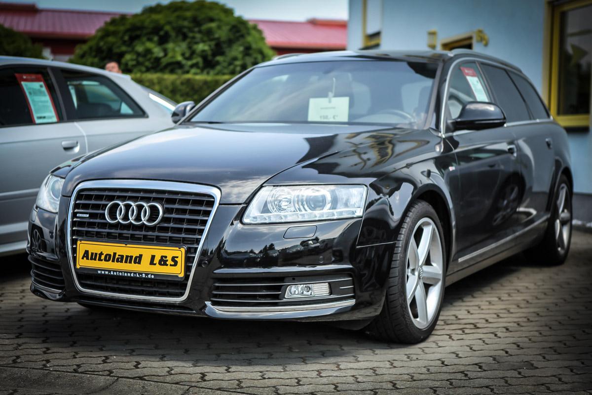 Audi Kombi auf dem Hof von Autoland L&S Cottbus