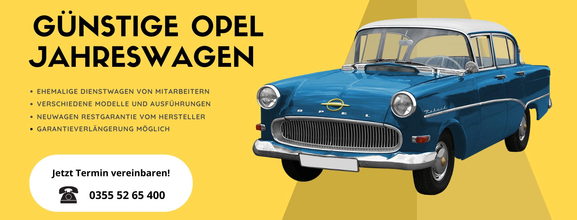 Jahreswagen-Opel-Dienstwagen